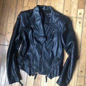 Black Faux LeatherJacket Blank NYC